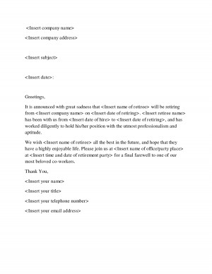 Farewell Letter Sample to Co Workers - DOC by yer17333