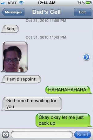 Funny Text Messages - I am disapoint