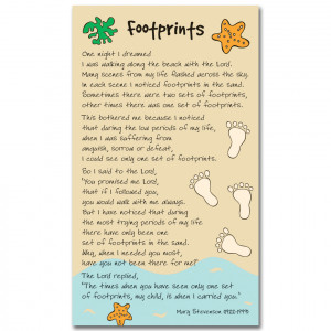 Printable Footprints Prayer