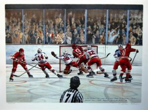 usa vs russia hockey fight