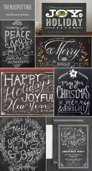 "... on "" Trendspotting : Chalkboard Holiday Cards + Invitations"