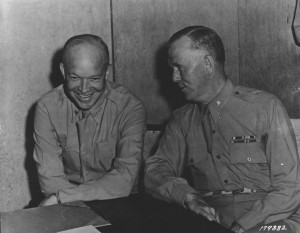 General Dwight D. Eisenhower (left) and General George C. Marshall ...