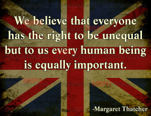 Thatcher Equality Poster