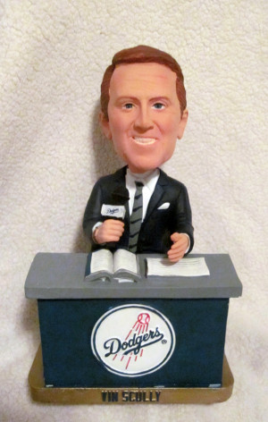 Vin Scully Bobblehead with Aug 30 game ticket