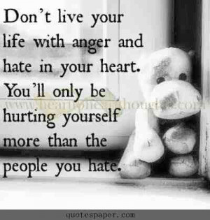 Hate anger