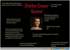Sheldon Cooper Quotes ...