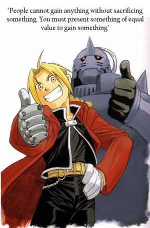 fullmetal alchemist quotes equivalent exchange