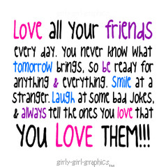 friend quote girly girl graphics an anonymous friend and friendship ...