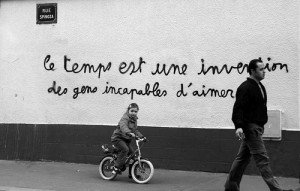 black and white, french, people, words