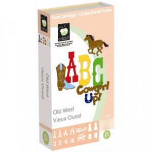OLD WEST Die Cut Cricut Cartridge New Cowgirls Cowboys Western Fonts ...