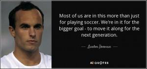 Landon Donovan Quotes