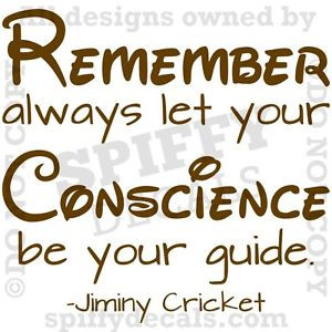 ... -CONSCIENCE-GUIDE-PINOCCHIO-Quote-Vinyl-Wall-Decal-Decor-Sticker