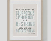 Bob Dylan - Forever Young Quote - 11x14 Art Print. $30.00, via Etsy.