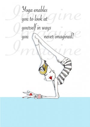 Yoga quote Humor 5x7 Print by ColleneKennedy