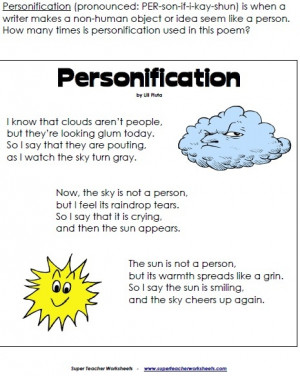 Personification Poems By Famous Poets Personification Poems By Famous ...