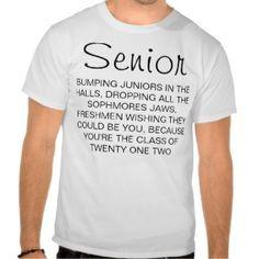 Senior Class Shirts | Senior 2012 Shirts, T-Shirts and Custom Senior ...