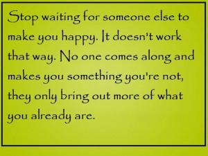 Stop waiting~