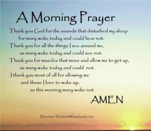 Prayer for Morning