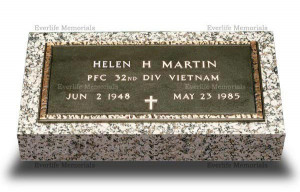 Bronze Military Grave Marker VET-2 (With Granite)