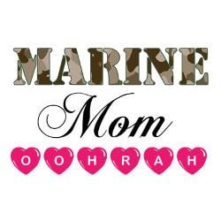 marine_mom_oohrah_greeting_cards_pk_of_10.jpg?height=250&width=250 ...