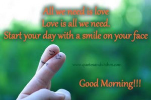 Start your day with a smile on your face good day quote