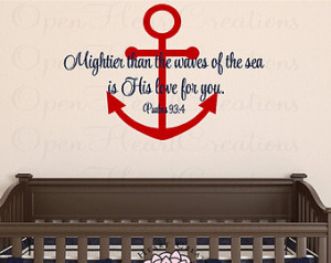Anchor Tattoos With Bible Verse Nautical boat anchor wall