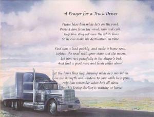 truck drivers prayerTruck Driver, Trucker Wife Quotes, Driver Wife ...