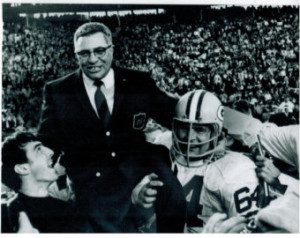 Vince Lombardi Super Bowl Green Bay Packers Legend Football 8X10 BW ...