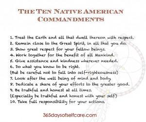 ten native american commandments page 001 The Ten Native American ...