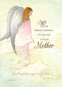 Loss of Mother, Sympathy card - so touching and inspirational with the ...