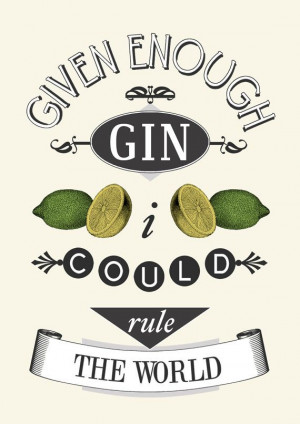 Gin Print, Quote, Kitchen Decor, Poster, Quote Print, Gin Lovers Gift ...