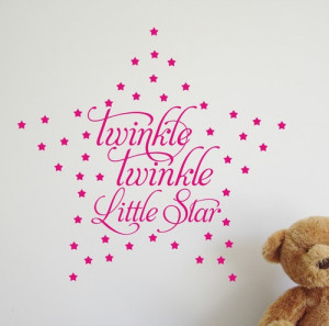 Twinkle Little Star VINYL WALL ART QUOTE STICKER WA262X £10.99