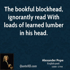 Alexander Pope Intelligence Quotes