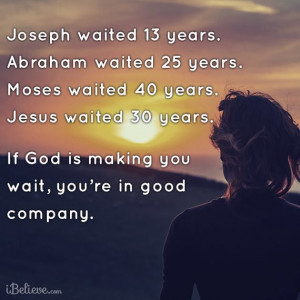 All in Gods Time!