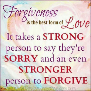 Im going to forgive and let go