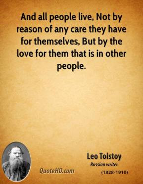 And all people live, Not by reason of any care they have for ...