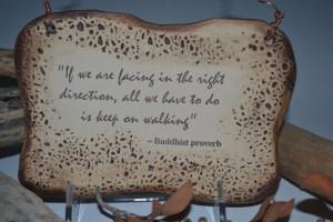 Buddhist Proverb Inspirational Quote Ceramic Plaque - Sepia