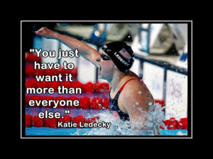 Katie Ledecky Poster Olympic Swimming Champion by ArleyArtEmporium, $ ...