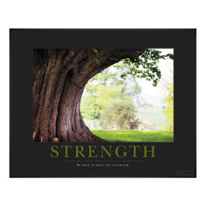 Strength Tree Motivational Poster