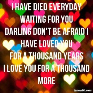 Thousand Years ♥