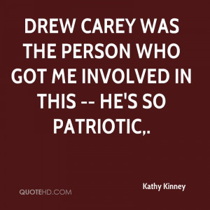 Drew Carey was the person who got me involved in this -- he's so ...