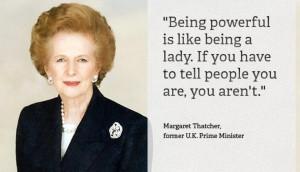 Een van de beste uitspraken van Margaret Thatcher.