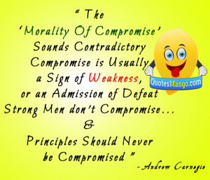man compromise quotes image