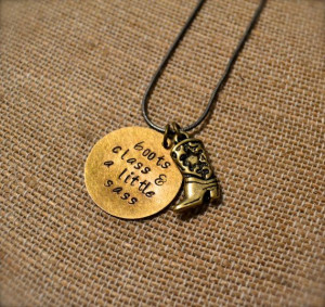 Cowgirl Boot Charm with Hand Stamped Word or Quote of your Choice ...
