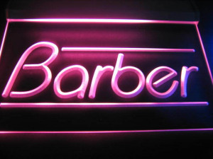 Barber Logo Shop Neon Light Sign Red