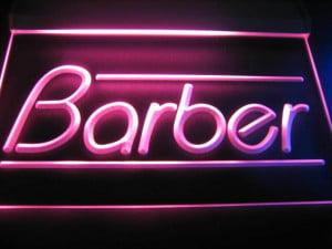 Barber Logo Shop Neon Light Sign Red