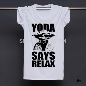 chemises Yoda Says Relax col rond Top t-shirts Star Wars t-shirts ...