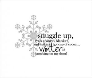 Winter is knocking at my door