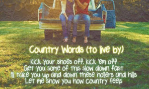 Country words to live by