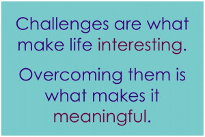 ... they are worthwhile you can expect challenges the challenges make it